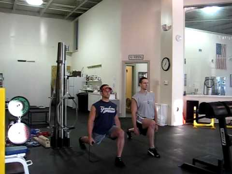 Iso Extreme 5 Minute Lunge Performed by Tommy John and Vladimir Curguz