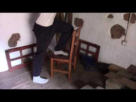 Step Down funktionelle einseitige Kniebeuge