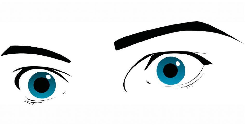Beobachtungen äußern statt zu beurteilen - zwei Augen