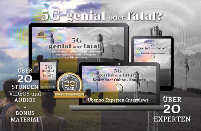Schützen Sie sich vor Elektrosmog - Werbebanner Online Kongress 5G