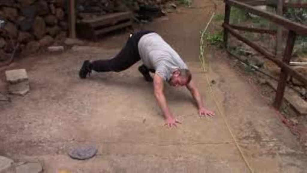 Jens bei Capoeira Übung