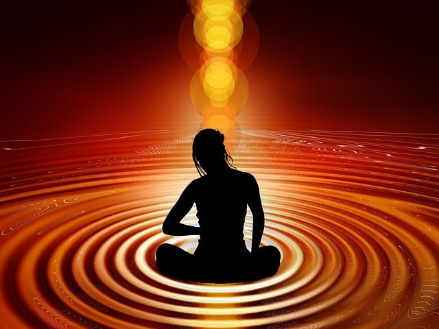 Zuckersucht Gründe Frau am Meditieren