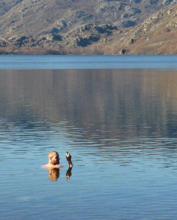 Jens im kalten See