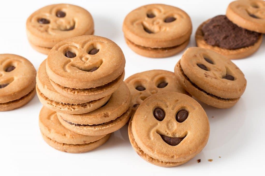Kekse mit Gesicht
