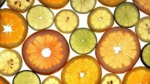 Zitrusfrüchte in Scheiben
